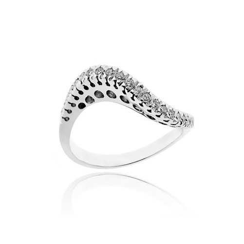 Anello riviera con diamanti Ct. 0,32
