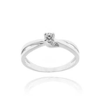 Anello solitario in argento e zircone Ct. 0,14 Zoppi Gioielli bijoux Anelli Donna CM037AG