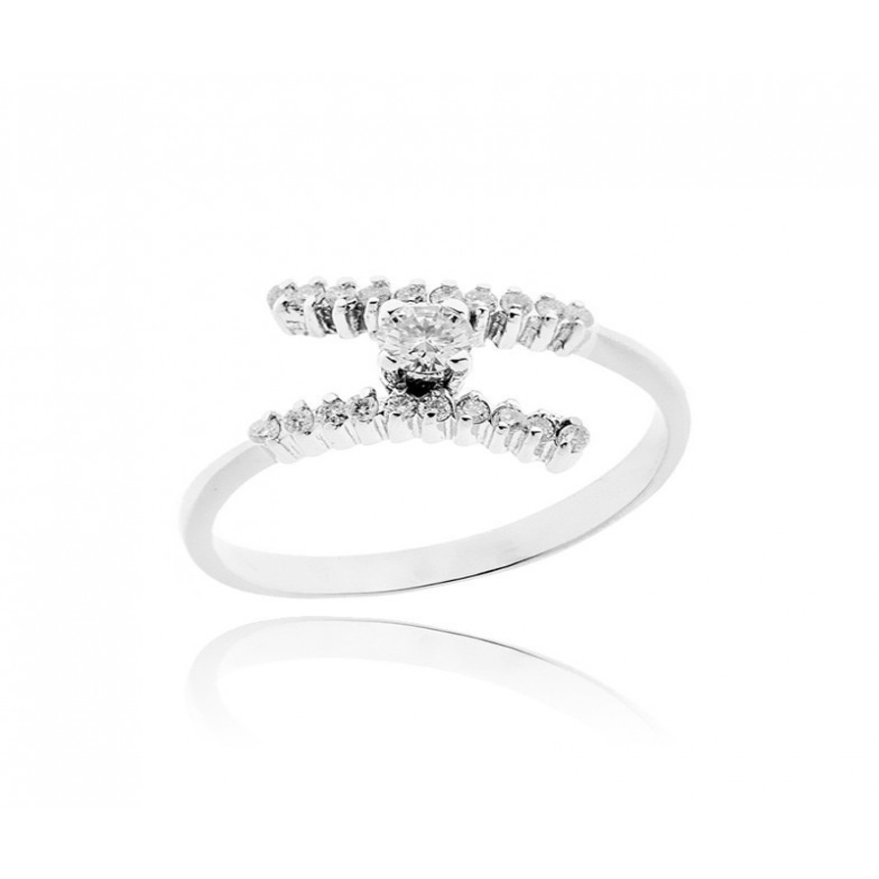 Anello solitario in argento e zirconi Ct. 0,30 Zoppi Gioielli bijoux Anelli Donna CM025AG