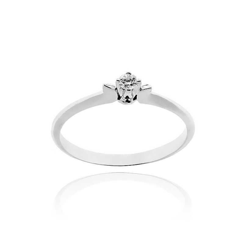 Anello solitario argento e zircone Ct. 0,07 Zoppi Gioielli bijoux Anelli Donna CM008AG
