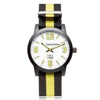 Orologio Diadora History nero e giallo