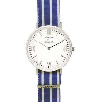 Orologio con polsino sartoriale a righe blu Colonna Orologi Orologi Eleganti uomo C32W00MLB