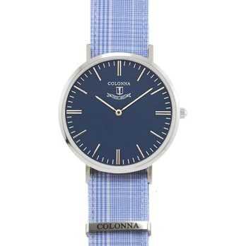 Orologio con polsino sartoriale azzurroColonna Orologi Eleganti 110,00€ C32B005GAC