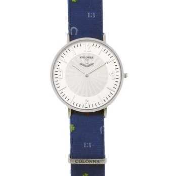 Orologio con polsino sartoriale fantasia bluColonna Orologi Eleganti 100,00€ C2200SCB