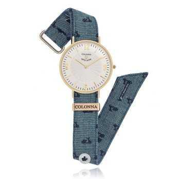 Orologio con polsino sartoriale fantasia bluColonna Orologi Eleganti 100,00€ C2200LVB