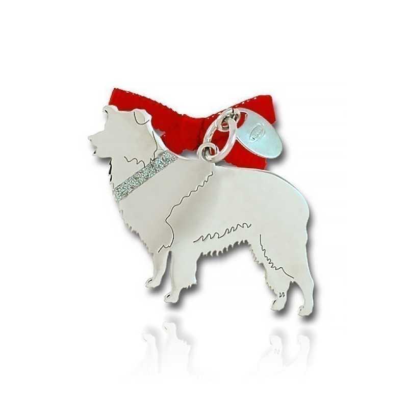 Ciondolo Cane Border Collie Unoaerre Silver jewellery Happy Pets 1R-AG1135