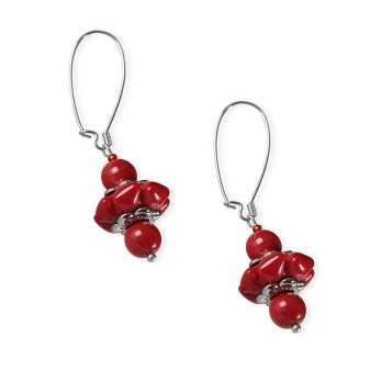Orecchini con perle di Murano pendenti