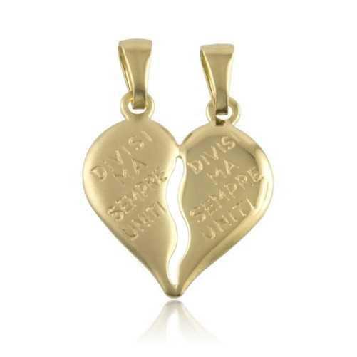 Cuore divisibile inciso in oro giallo Zoppi Gioielli jewelry Ciondoli CN-AU330L