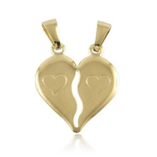 Cuore divisibile in oro giallo Zoppi Gioielli jewelry Ciondoli CN-AU330LC