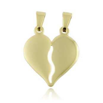 Ciondoli Cuore divisibile in argento dorato Puca Jewels
