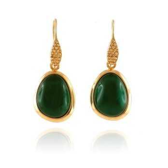 Orecchini Donna Orecchini con pietra verde Labriola bijoux