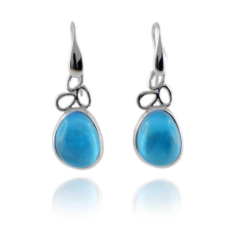 Orecchini con pietra azzurra Labriola bijoux Orecchini Donna LB-1862/B