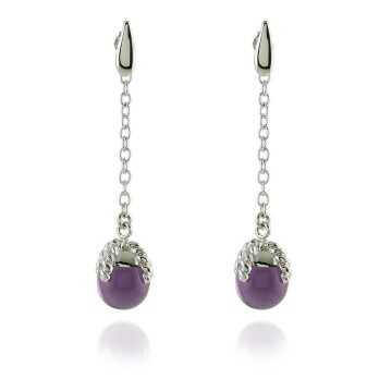 Orecchini Donna Orecchini pendenti con ametista Labriola bijoux