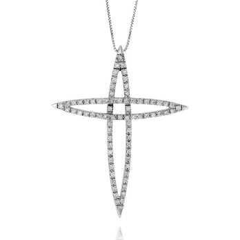 Croce oro e diamanti ct.0,56 Prestige Gold Collane oro diamanti PG-XC74