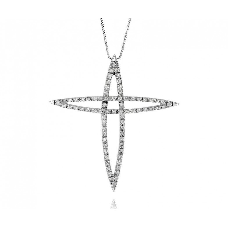 Croce oro e diamanti ct.0,56Prestige Gold Collane oro diamanti 800,00€ PG-XC74