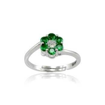 Anelli Donna Anello argento e pietre smeraldo Alexia Gioielli
