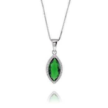 Collana con smeraldo in...