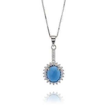 Collane Donna Collana argento e pietra azzurra Zoppi Gioielli - Multibrand