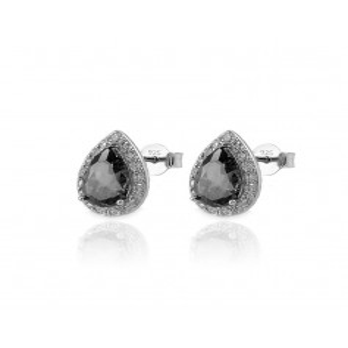 Orecchini goccia con pietra nera Zoppi Gioielli bijoux Orecchini Donna GD-OR90AG10