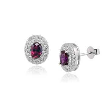 Orecchini a pavè con rubino Zoppi Gioielli bijoux Orecchini Donna GD-OR90AG12