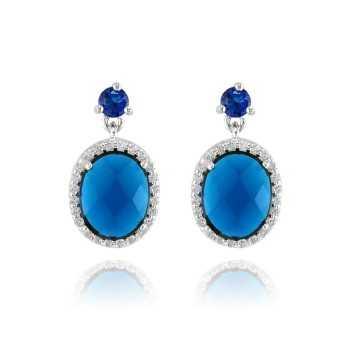 Orecchini con pietra blu...