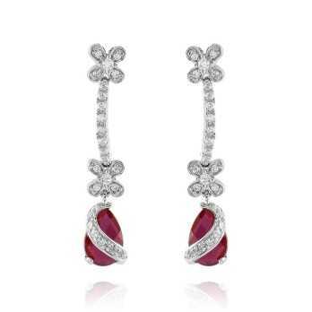Orecchini Donna Orecchini in argento con spinelli rossi Puca Jewels