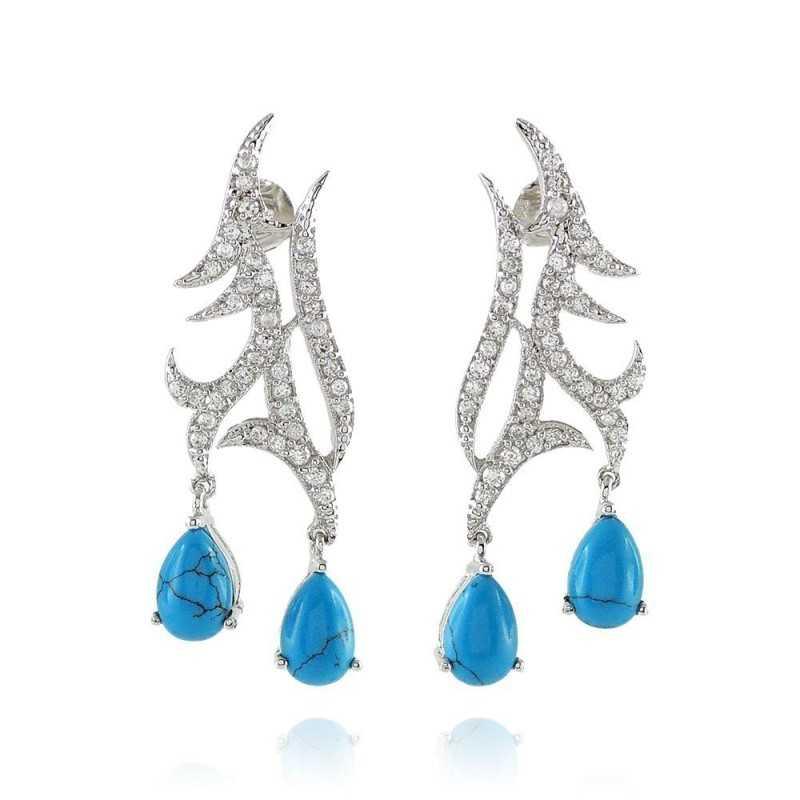 Orecchini in argento con turchese Puca Jewels Orecchini Donna MP-AG150ORT