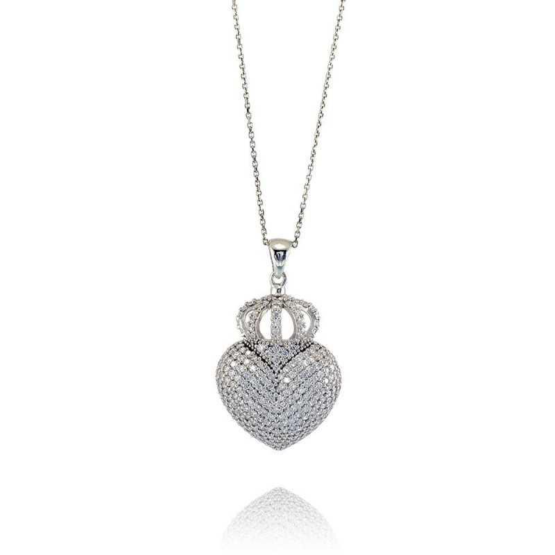 Collana cuore con corona Puca Jewels Collane Donna PJ-AG50CL01