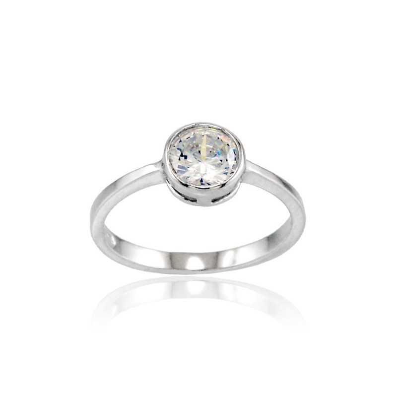 Anello solitario argento con zircone Alexia Gioielli Anelli Donna RB-AG12S1AN