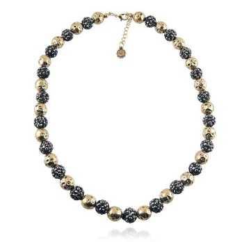 Promozioni Girocollo con sfere nere e oro Lizas jewellery