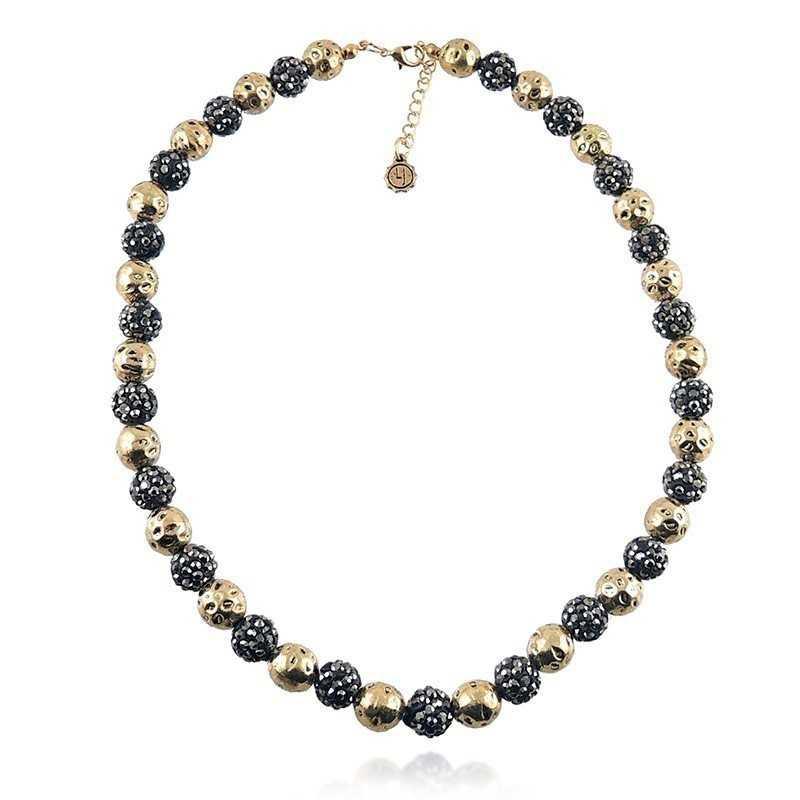 Girocollo con sfere nere e oro Lizas jewellery Promozioni LZ-23929CL