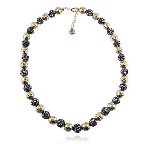 Girocollo con sfere nere e oroLizas jewellery Promozioni 16,00€ LZ-23929CL
