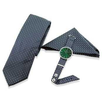 Orologio Coordinato cravatta e pochetteColonna Orologi Eleganti 200,00€ SET001FV