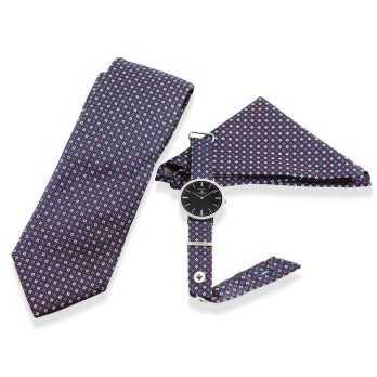 Orologio Coordinato cravatta e pochette Colonna Orologi Orologi Eleganti uomo SET001FB
