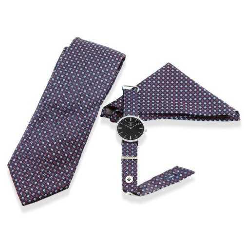 Orologio Coordinato cravatta e pochette
