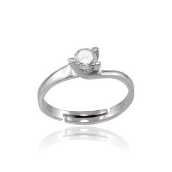 Anello solitario argento con zircone 4mm Alexia Gioielli Anelli Donna RB-AG9S2AN