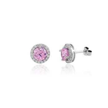 Orecchini con pietra rosa 8mm Zoppi Gioielli bijoux Orecchini Donna GD-OR70AG4