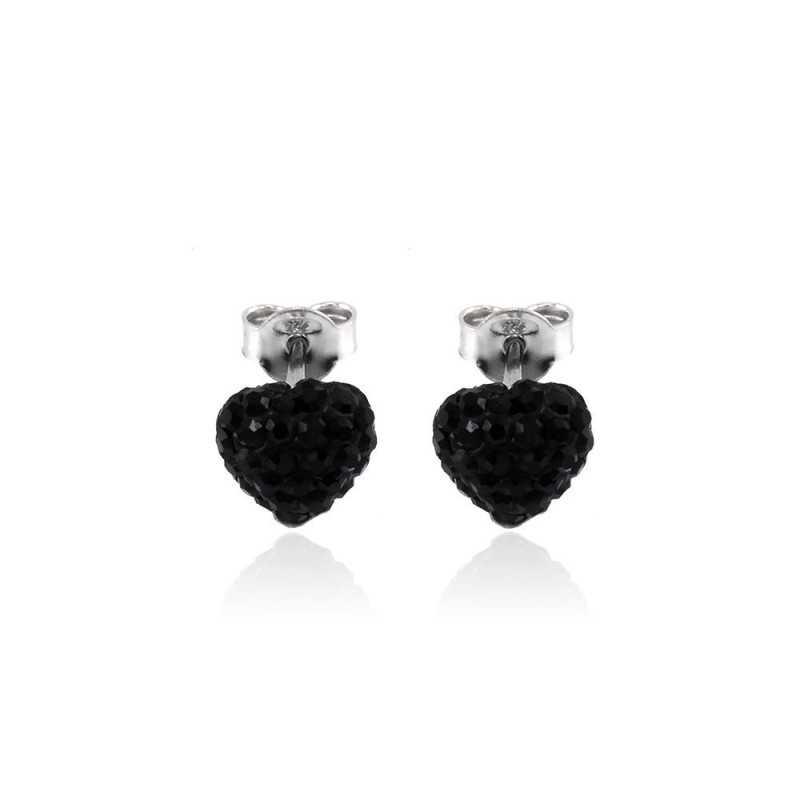 Orecchini a cuore pietre nere Zoppi Gioielli bijoux Orecchini Donna GD-OR70AG21