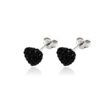 Orecchini a cuore pietre nereZoppi Gioielli - Multibrand Orecchini Donna 14,00€ GD-OR70AG21