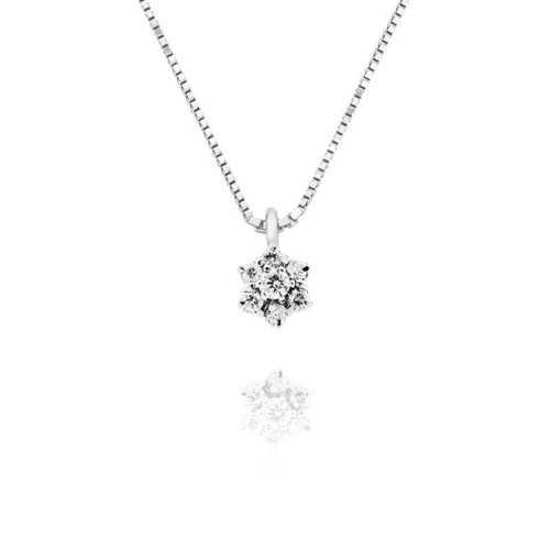Collana oro e diamanti Ct. 0,25