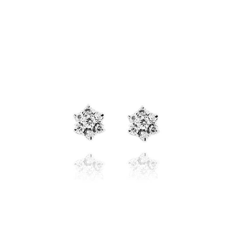 Orecchini puntoluce argento e zirconi Ct. 0,50 Zoppi Gioielli bijoux Orecchini Donna CM092AG
