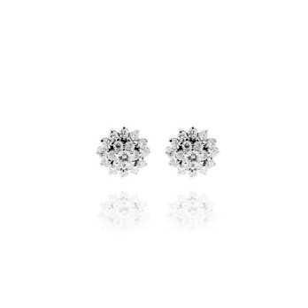 Gioielli con Diamanti Orecchini oro e diamanti Ct. 0,26 Grama & Mounier