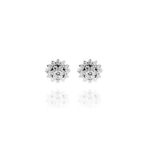 Orecchini a raggiera argento e zirconi Ct. 0,26 Zoppi Gioielli bijoux Orecchini Donna CM090AG
