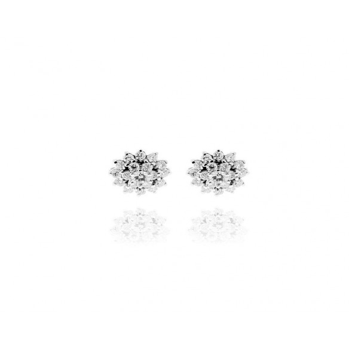 Orecchini oro e diamanti Ct. 0,26