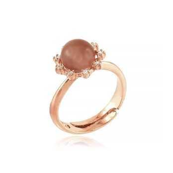 Anello argento rosè con pietra occhio di Gatto Zoppi Gioielli bijoux Anelli Donna GD-AN600AGR