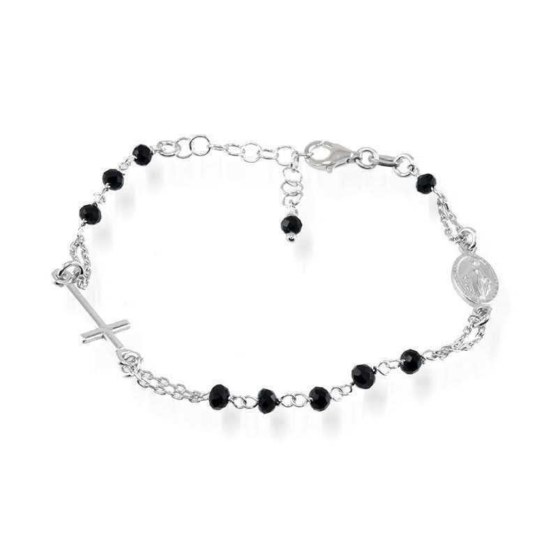 b380704b60cebb Bracciali Bracciale a rosario con pietre nere Alexia Gioielli