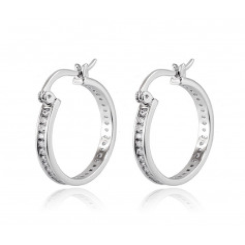 Orecchini cerchio in argento con zirconi a giro Zoppi Gioielli bijoux Orecchini Donna OR9CAG