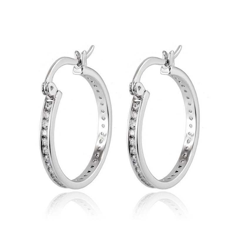 scarpe di separazione e0a51 3d056 Orecchini cerchio in argento con zirconi a giro