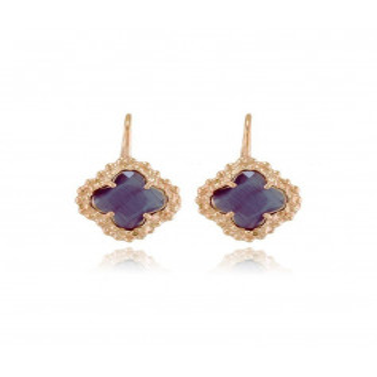 Orecchini toppe argento rosa e pietra viola Zoppi Gioielli bijoux Orecchini Donna OR100AGRV