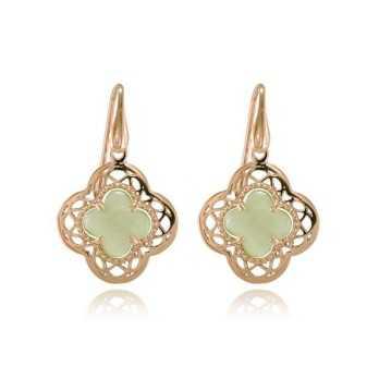 Orecchini pendenti argento rosa e pietra verde Orecchini Donna 28,00€ product_reduction_percent